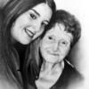 Alessandro Sammaritano | Monica con la nonna | grafite su carta